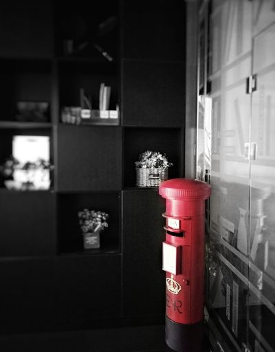 Mailbox Boxes Indoor Design Bnw Space Art Windows City Red Architecture Fire Hose