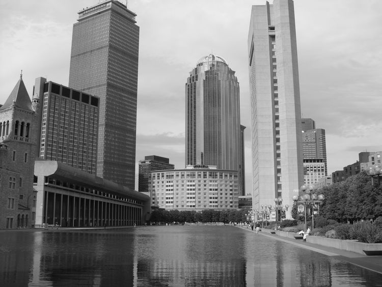 Blackandwhite Photography Downtown Boston Vintage Prudential Building Hometown