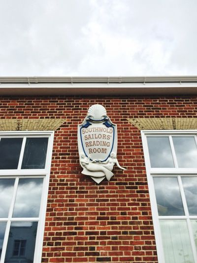 Sailor Reading Room Brickwork  Mermaid Sign Composition Reflection Lettering Crest