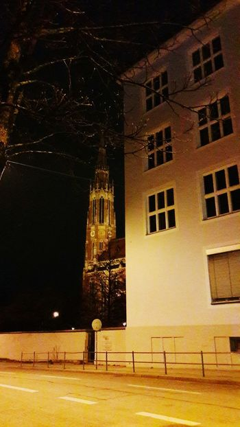 München Munich Giesing Architecture No People Night Illuminated Church Kirche Heilig Kreuz Urban