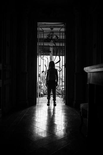 Still life in the Chateau des Fountaines in Canet d'Aude Blackandwhite Casual Clothing Chateau Des Fountaines Château Corridor Dark Leisure Activity Silhouette