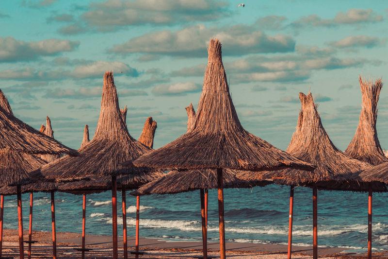 Vama Veche Black Sea♥ Blacksea Romania Romaniamagica Romanian Lands Constanta Water Sea Beach Sand Summer Sky Horizon Over Water Beach Umbrella Sand Dune Countryside