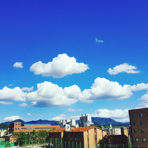 Beautiful Memories Blue #high School #cotton Candy #cloud Sky First Eyeem Photo