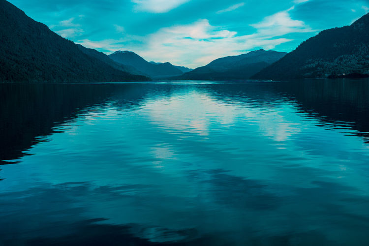 Todos los Santos Lake... EyeEmNewHere Reflection Winter Beauty In Nature Blue Cloud - Sky Clouds And Sky Day Idyllic Lake Lake View Mountain Mountain Range Nature No People Non-urban Scene Reflection Remote Scenics Scenics - Nature Sky Tranquil Scene Tranquility Water Waterfront
