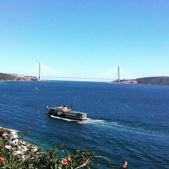 Benim lensimden.. Şehir hatları vapuru ve arkaplanda ki İstanbul'un yeni gözbebeği Yavuz Sultan Selim Köprüsü.. Bosphorus Bosphorus Bridge Istanbul YavuzSultanSelimKöprüsü First Eyeem Photo