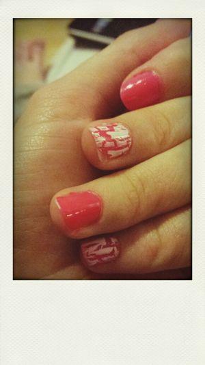 Pink <3 Nails Pink