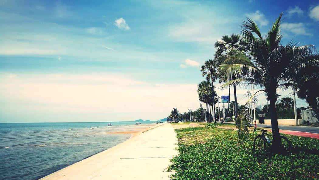 Beach Sea Sunny Sunday Cloud - Sky Cycling Pranburi Thailand