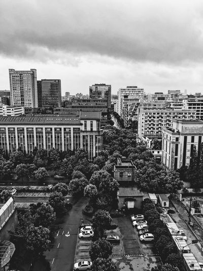 Streetphotography Blackandwhite Photooftheday Enjoying Life China Travel Moments Good Morning Building Exterior Built Structure Architecture City Sky Cloud - Sky Cityscape Building City Life Modern Day