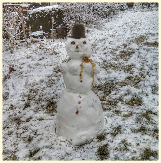 Schnee *-* Schneemann Bauen Schneemann