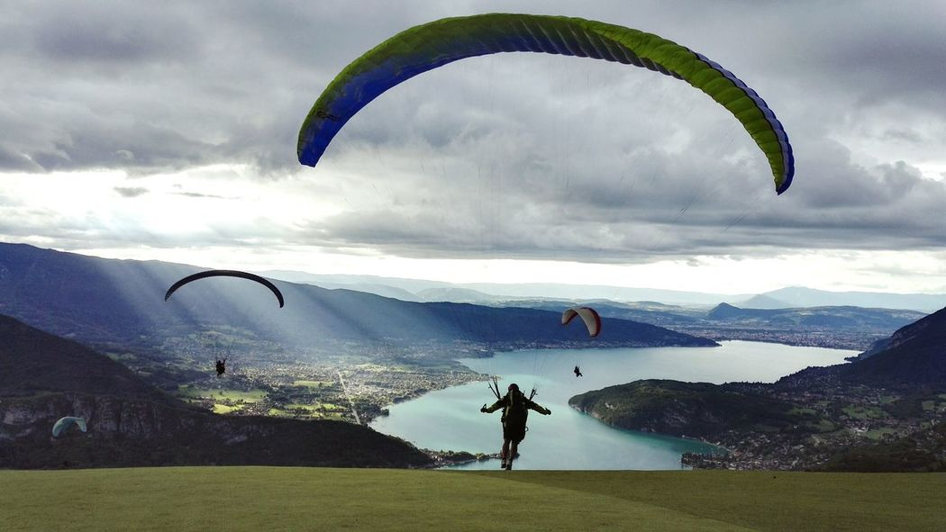 Some men in the sky .. Annecy Lake France🇫🇷 Sky Parapente Landscape Window In The Sky