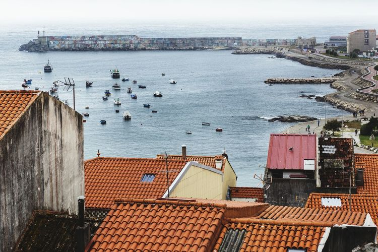 Puerto de La Guardia. Galicia Galicia Sony Zeiss Puerto Mar EyeEm Selects Architecture Building Exterior Built Structure Outdoors No People High Angle View Sea Water City Day Sky Cityscape Nature Roof first eyeem photo