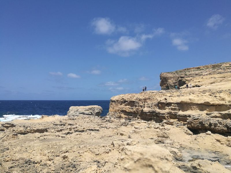 Gozo Island Sea Nature Tranquility Water Horizon Over Water Malte
