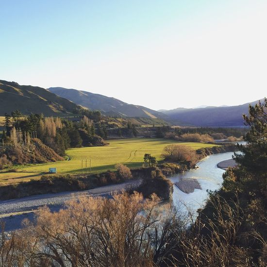 Beautiful winter's day (that looks like autumn) in Hanmer Springs, South Island, New Zealand. Landscape Nature Natural Beauty Idyllic View Scenery Newzealand Hanmer Springs River Sky Trees Mountains Remote Tranquility Tranquil Scene Non-urban Scene Countryside Fine Art Photography