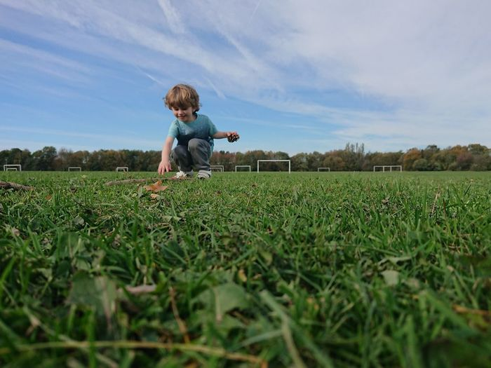 Boy on playing field