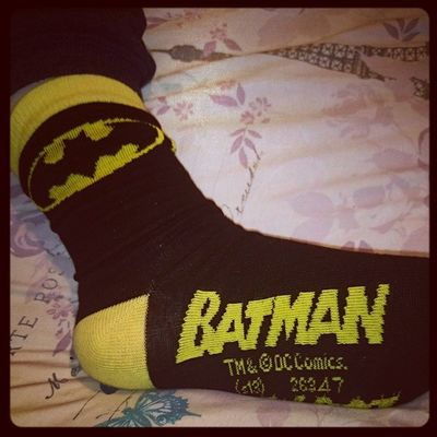 I think I have an obsession Batman Dinnerdinnwrdinnerdinner BATSOCKS