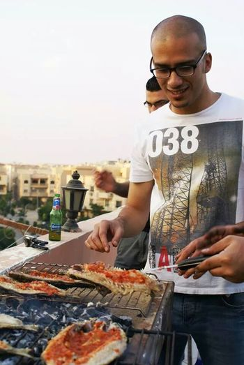 Back times with my friends in egypt having barbique. . Enjoying Life That's Me Today's Hot Look Barbeque Time