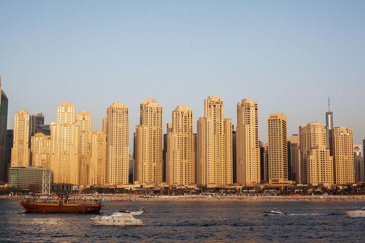 Dubai, uae, april 2019 beautiful view of dubai marina