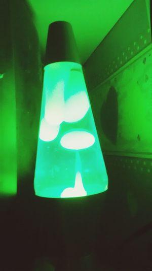 Lava Lamp Light Green