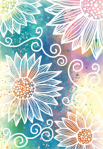 Abstract free hand drawing flower pattern and watercolor digital art painting grunge texture for background The Creative - 2019 EyeEm Awards Greeting Card  Cover Book Doodle Art Wallpaper Springtime Summer Watercolor Painting Free Hand Drawing Flower Celebration Pink Color Technology Creativity Still Life Full Frame Choice Shape Art And Craft Lighting Equipment Underwater Backgrounds Illuminated Close-up Indoors  High Angle View Design No People Pattern Multi Colored Decoration Indoors