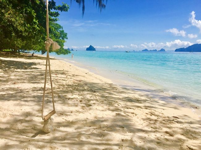 Love it!!!! Beach Nature Sand Beauty In Nature Sky Water No People Day Cloud - Sky Today :) Freedom Relaxing Alone Time Mountain Kradanislands Kohkradan Trang | Thailand TakenByIphone6 Blue Sky