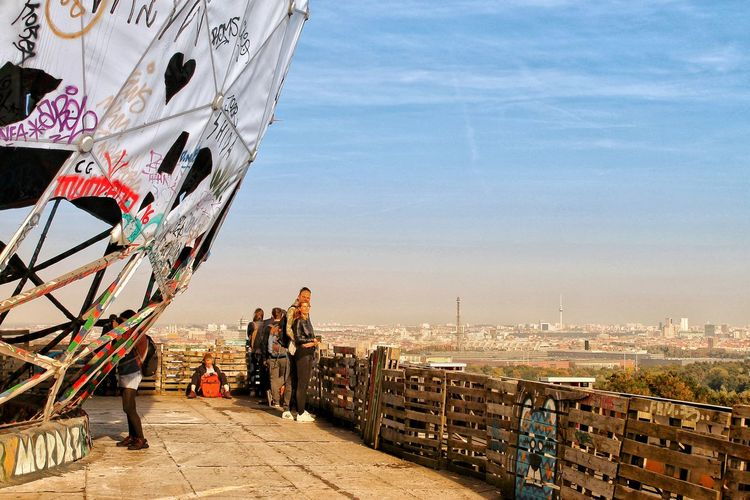 City Travel Destinations Sky Beach Outdoors Cityscape Harbor Sea Day Architecture Adult People Multi Colored Teufelsberg Discover Berlin Architecture Berlin Photography