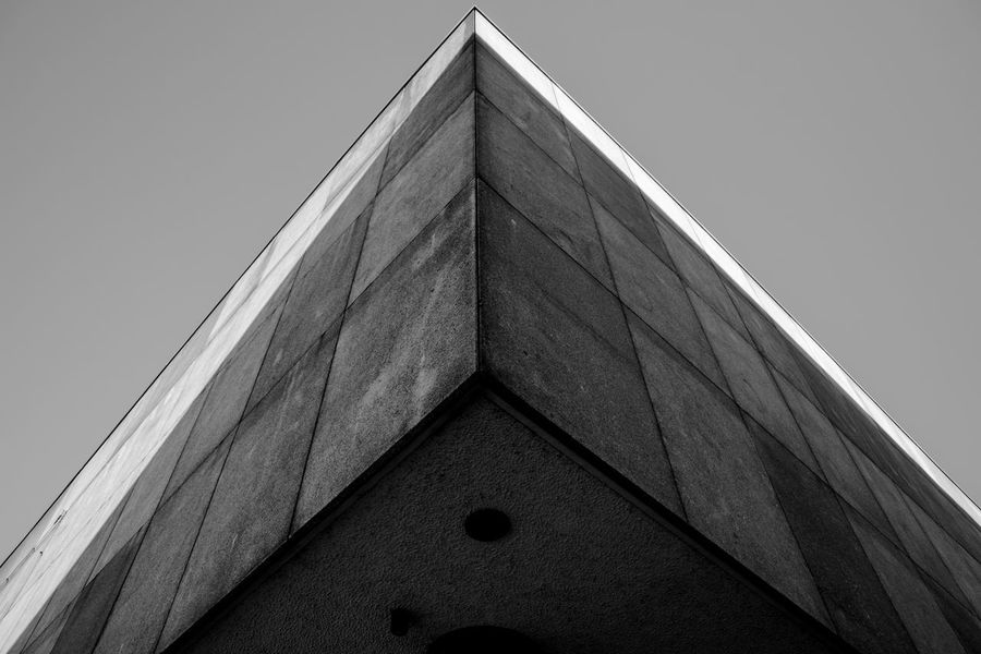 Architecture Building Building Exterior Built Structure City Clear Sky Corner Day Design Geometric Shape Low Angle View Modern Nature No People Outdoors Pattern Shape Sky Tall - High Triangle Shape