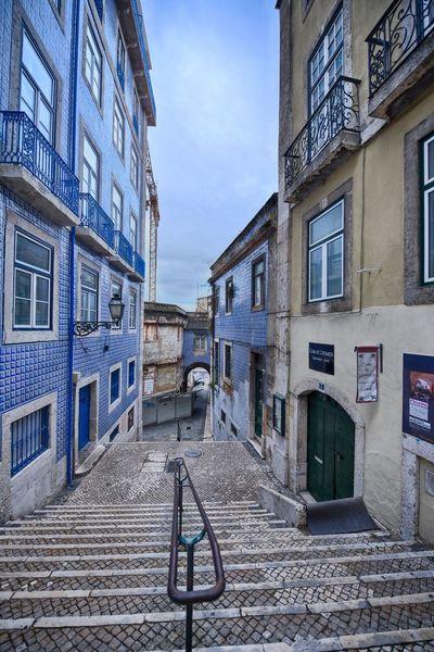 Blue Sky Blue Wave Blue BlueEyes Blue Sea Blue Hour Streetphotography Stairs Lisbon
