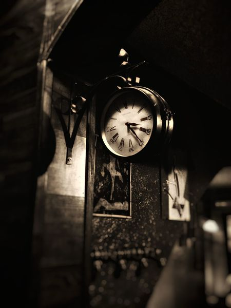 Time. Clock Face Minute Hand Clock Time Roman Numeral Hour Hand Old-fashioned Hanging Close-up Architecture