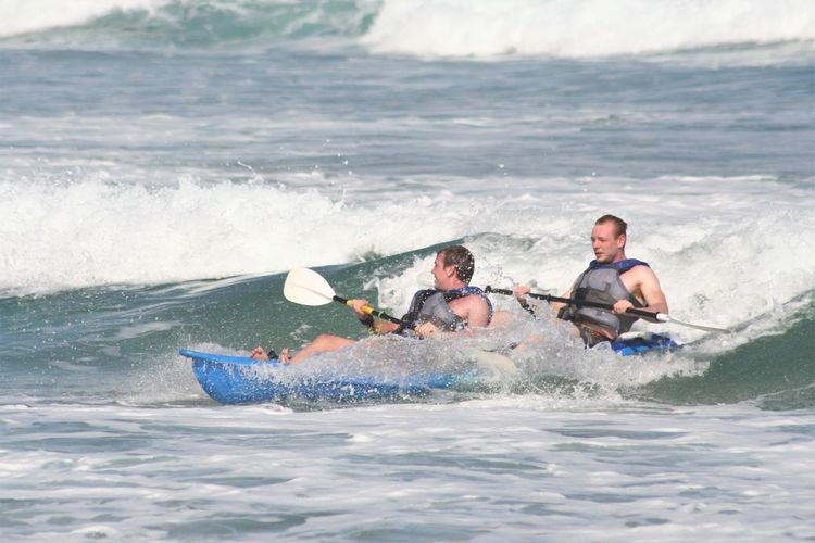 Fun Kayaking Kayaking In Nature South Africa Adventure Blue Brothers Day Fitness Leisure Activity Motion Nature Oar Outdoors Sea Two People Water Wave White Water Kayaker