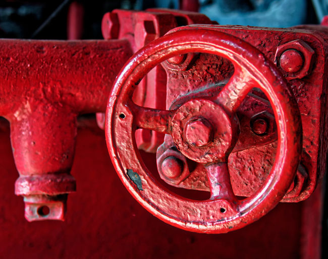 Circle Close-up Connection Day Focus On Foreground Geometric Shape Indoors  Industrial Equipment Industry Machine Part Machine Valve Machinery Metal No People Pattern Red Rusty Shape Technology Valve