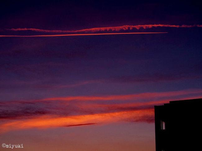 take a break! Contrails Silhouette Sunset EyeEm Best Shots