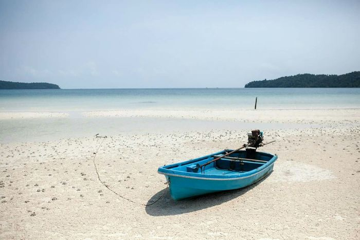 Local Transportation on Paradise Beach in Cambodia. @saracen bay