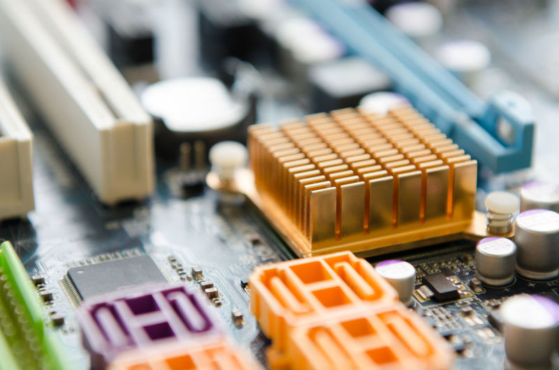 Close-Up Of Mother Board