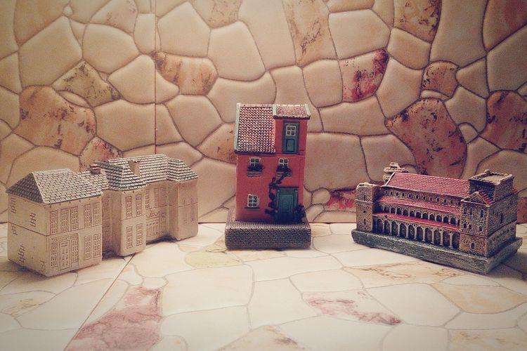 Am i too old to play w/ houses?.. Multi Colored Architecture Ceramics Cement
