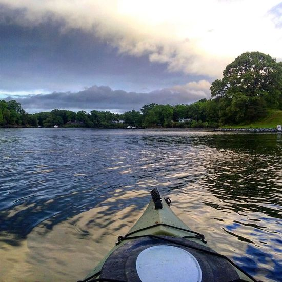 Nice Colors Kayaking In Nature On The Water Storm Clouds Water Reflections No People My Backyard Oasis California MD USA