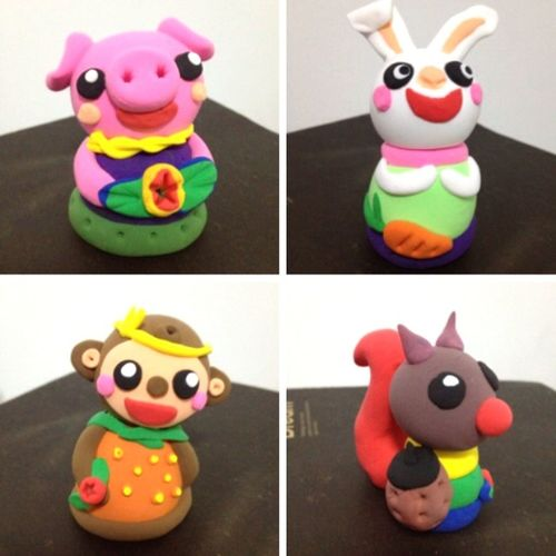 Handmade Claysculpture ArtWork Fun Enjoying Life Cutie♥