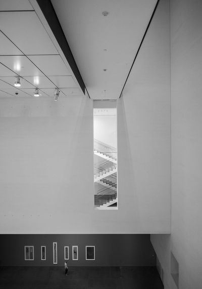 MoMA Moma New York NCY Newyorkcity Museum Museum Of Modern Art Blsckandwhite IPhoneography Built Structure Indoors  Window No People Day Building Exterior