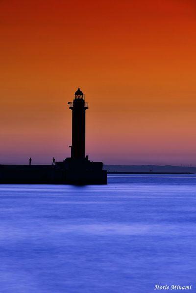 Long Exposure EyeEm Gallery EyeEmNewHere EyeEm Selects EyeEm Best Shots Lighthouse OSAKA Water Sea Sunset Architecture Sky Built Structure