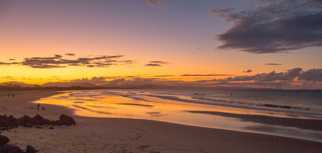 Byron Bay Australia Be. Ready. Sunset Beach Beauty In Nature Scenics Nature Sky Tranquility Sea Sand Tranquil Scene Water Silhouette Sun No People Outdoors Horizon Over Water Day