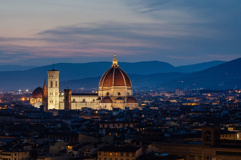 Basilica of Santa Croce in Florence after sunset Architecture Sky Built Structure Cityscape Building Cloud - Sky Italy Florence Tuscany Summer Sunset Historic Old Acient Night Evening Panoramic Travel Destinations Tourism Destination Tourism Travel Dream Beautiful Sky Basilica Of Santa Croce, Florence, Italy. Cathedral