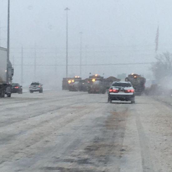 Snowplow Winter Roads Salt Plow Cars Slippery Roads Cavalry Battle Mobility In Mega Cities