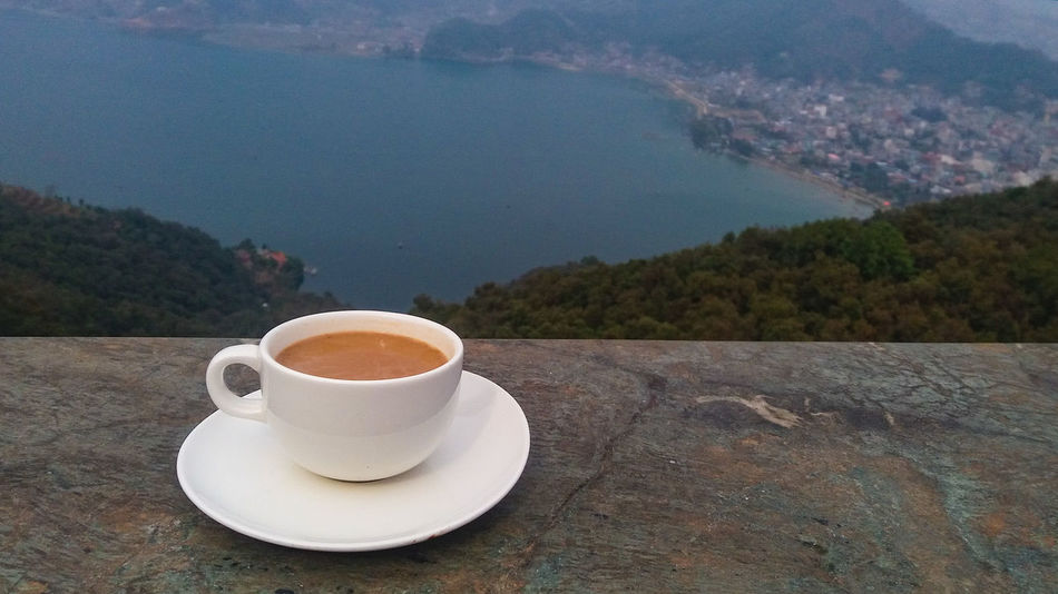 Having Tea Over The Lake Having Tea Tea On Top Of The City Masala Tea Pokhara, Nepal City View  City View From Mountain Coffee - Drink Coffee Cup Drink Morning Heat - Temperature Food And Drink Espresso Table Breakfast Refreshment No People Afternoon Tea Water Waking Up Sky Outdoors Day