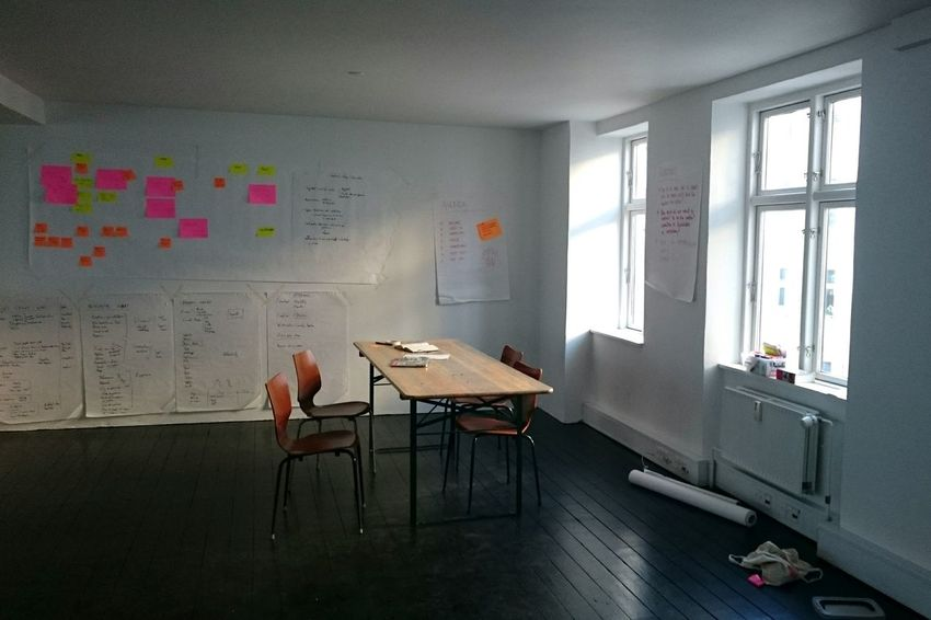 Modern Workplace Office Startup New Business Brainstorming Post It Notes Indoors  Window Chair Music Arts Culture And Entertainment No People Home Interior Architecture Piano Day Prison