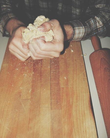 Baking Bake Baker Bakingtime Baking Day Pasta Wood Wooden Wooden Table Wood - Material Kitchen Kitchen Utensils Hands At Work Hands Man Hand Handsatwork Work Working Copy Space Open Space Showcase: January