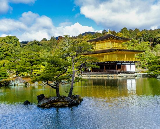 Japan Japan Scenery Japanese Temple Taking Photos Travel Photography From My Point Of View At 鹿苑寺(金閣寺) Kinkaku-ji Temple Kyoto,japan Japanese Style Japanese Shrine