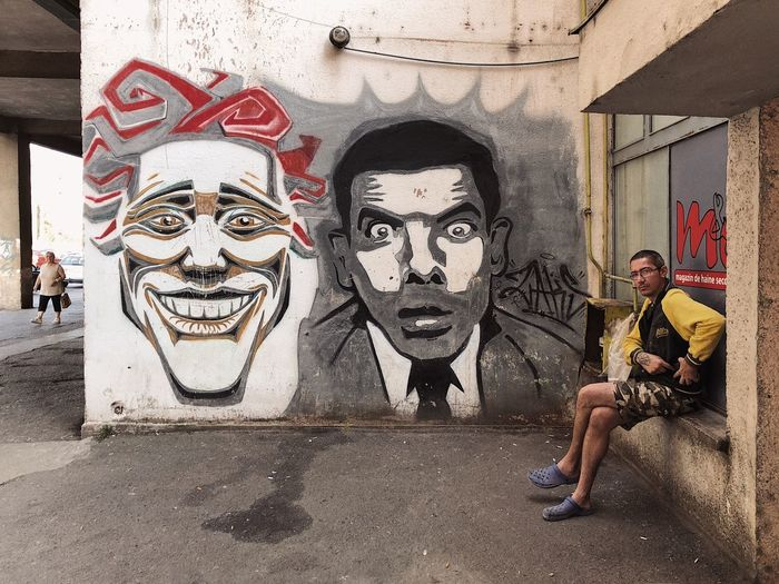 The bewilderment of Mr.Bean... Comedian Comic Travel Daily Asphalt Funny Drawing - Art Product Street Art ArtWork Mr Bean Mrbean Bean Graffiti Art Concrete Urban City Human Representation Representation Creativity Day Art And Craft Architecture Male Likeness Wall - Building Feature Lifestyles Building Exterior Graffiti Front View Built Structure Real People