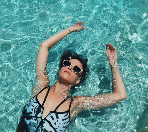 Summer Self Portrait. Swimming Pool One Person Leisure Activity Water Lifestyles Swimming Vacations Young Women Day Self Portrait Selfportrait Swim Summertime Summer Florida Outdoors Women Summer Vibes Pool Relaxing The Week On EyeEm