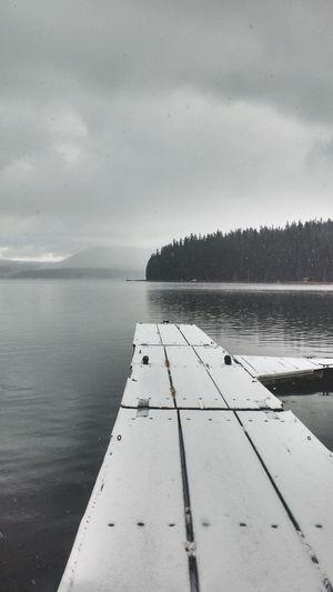 Oregon Its Cold Outside Lake Dock PNW