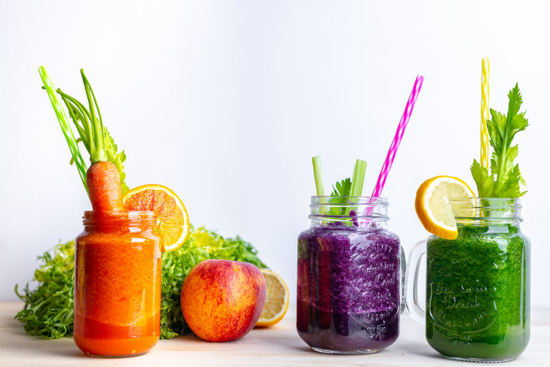 colorful smoothies Breakfast Healthy Eating Healthy Lifestyle Diet Calories Colorful Food Lunch Mittagessen Mittagstisch Essen Vegetable Vitamin Healthcare Spring Smoothies Smoothie Vitamins Summer Spring Fresh