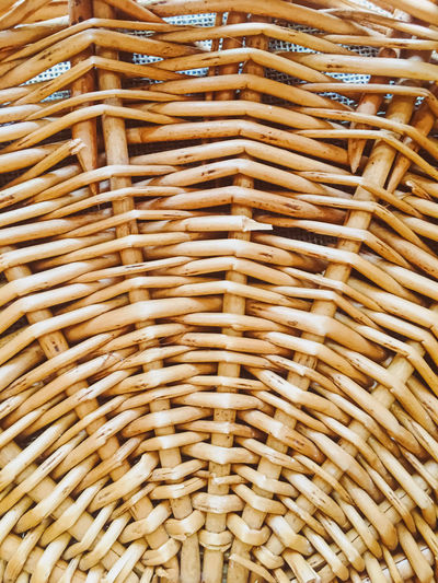 Full frame shot of wicker basket